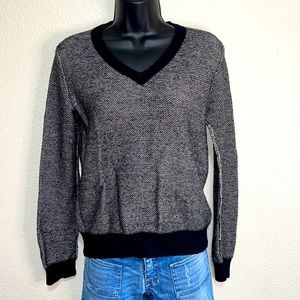 Madewell - Wallace Black White Casual Sweater